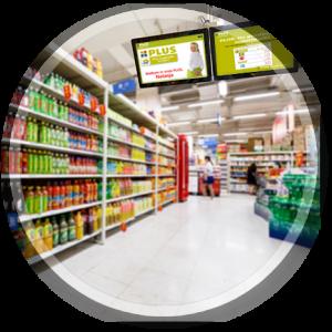 PublicView narrowcasting supermarkt